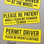 Magnetic Car Signs for Teen Drivers