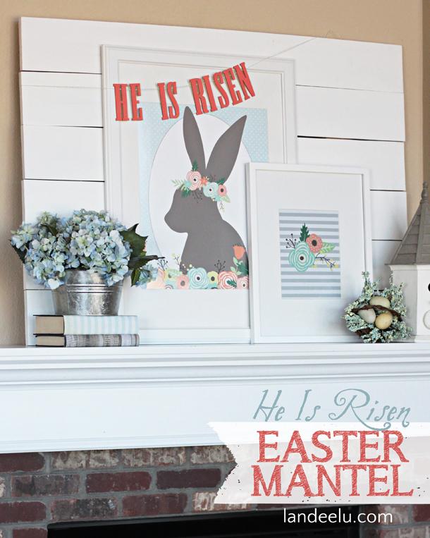He Is Risen Easter Mantel | landeelu.com