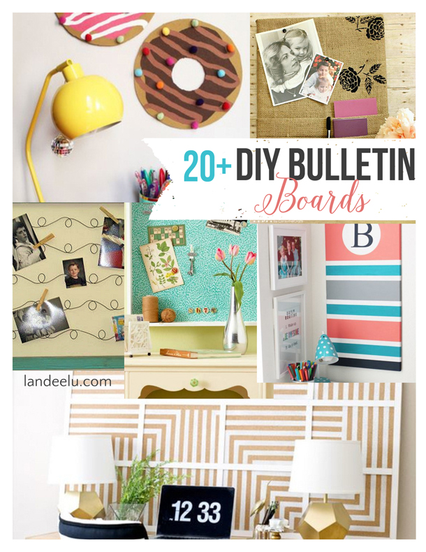 DIY Bulletin Boards | landeelu.com Lots of great ideas to embellish and upcycle bulletin boards to customize for your space!
