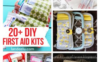 20+ DIY First Aid Kits | landeelu.com  Great ideas to make sure you always have first aid supplies on hand!
