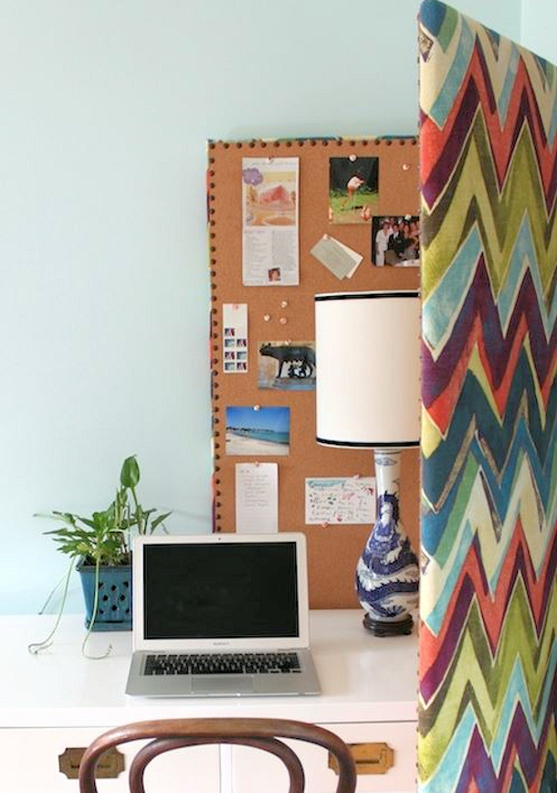 Design Sponge room divider bulletin board