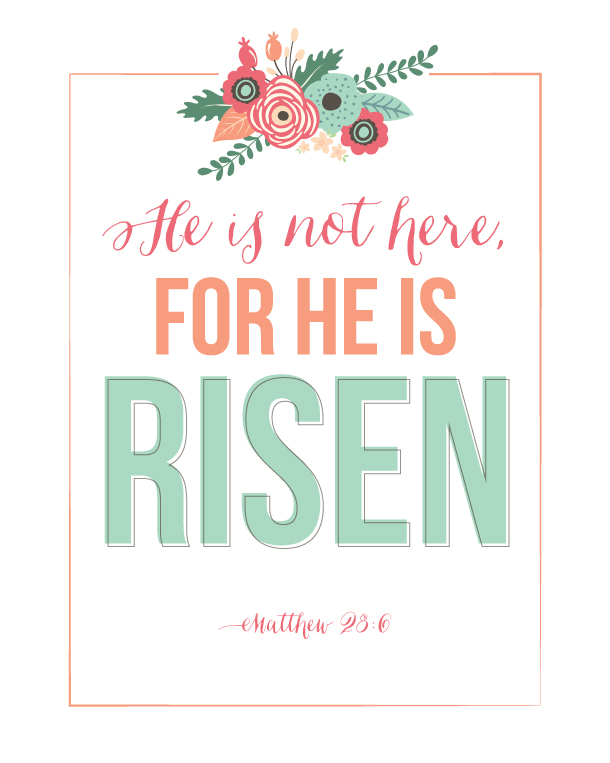 Sunday Encouragement: He Is Risen Printable | landeelu.com