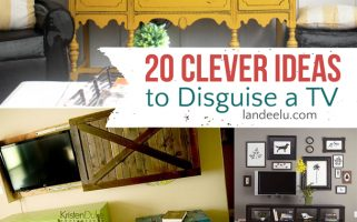 "20 Clever Ideas to Disguise a TV  |  landeelu.com  Great ways to make that TV ""disappear"" when you aren't watching it!"