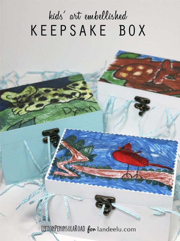 Kids Art Embellished Keepsake Boxes