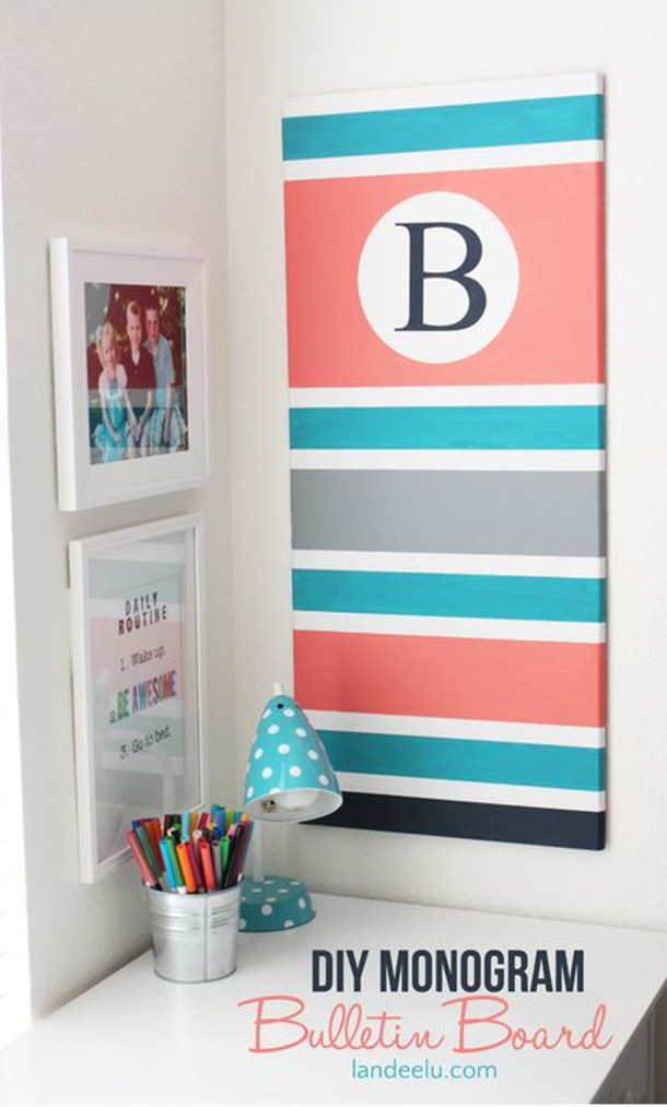 Diy Bulletin Board Ideas Landeelu Com