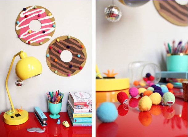 Paint the gown red donut bulletin board tutorial