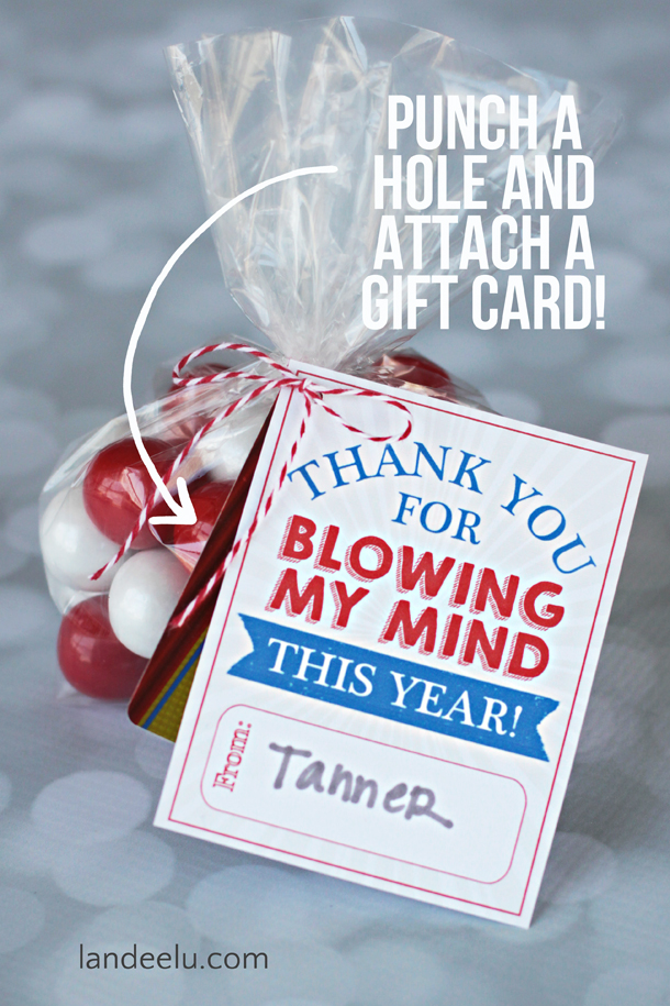 Teacher appreciation gift idea blowing my mind Gifts to show appreciation to friend