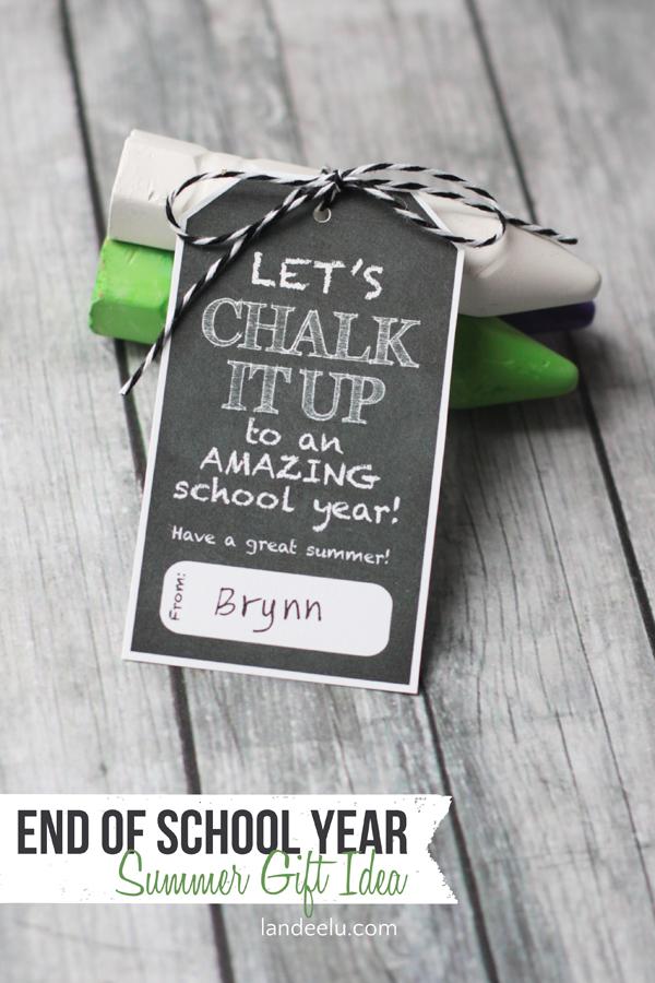 End Of School Year Gift Idea Chalk It Up Landeelu Com