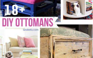 DIY Ottomans  | landeelu.com   A great roundup of awesome DIY ottoman ideas!