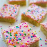 Sugar Cookie Sprinkle Bars... yum!! The easy way to get that yummy sugar cookie taste without having to cut them out!