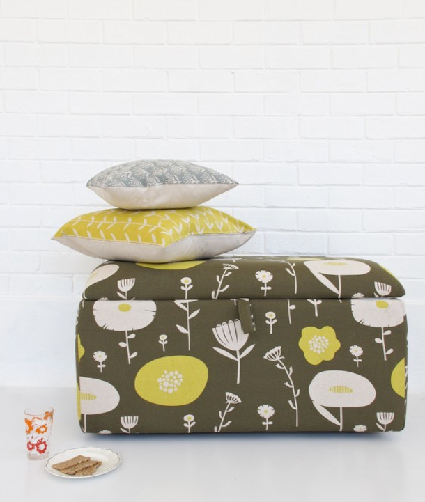 Skinny-laMinx-Ottoman-box trunk DIY reupholster tutorial