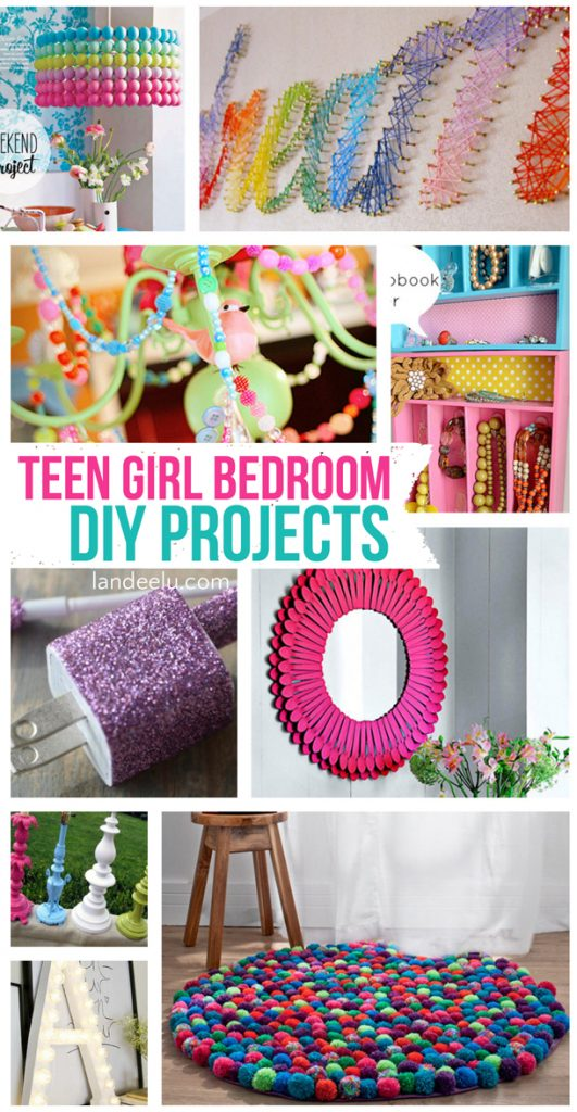 Teen girl bedroom diy projects for Diy crafts with things around the house