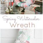 DIY Spring Watercolor Wreath