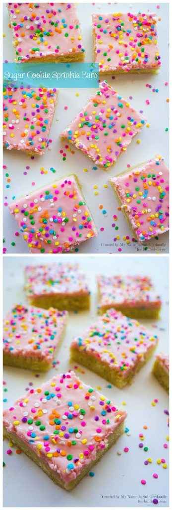 Sugar Cookie Sprinkle Bars Recipe - Yummy Dessert Treat Bars - So much easier than rolling them out and cutting them!