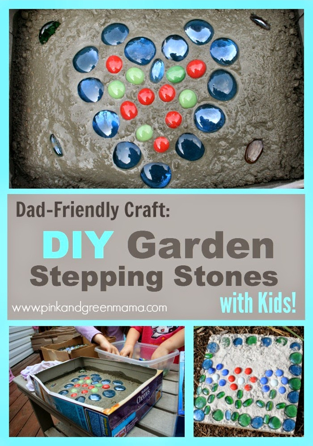 Outdoor diy summer activities for kids for Diy garden stepping stones