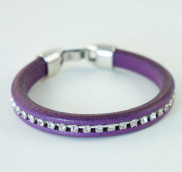 diy leather bracelet tutorial - photo #15