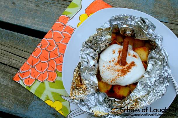 Pineapple Upside Down cake tinfoil dessert by echoes of laughter