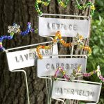 Easy DIY Stamped and Beaded Garden Markers