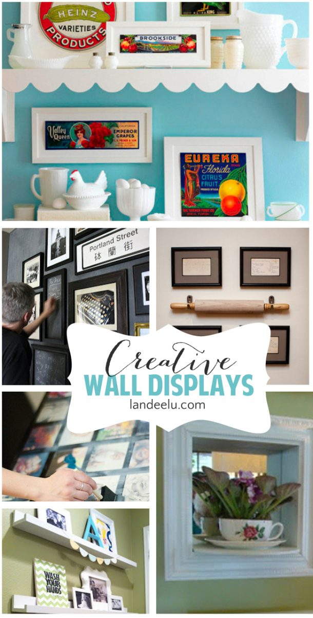 Photo Displays On Walls Creative Wall Displays Gallery Walls And More  Landeelu