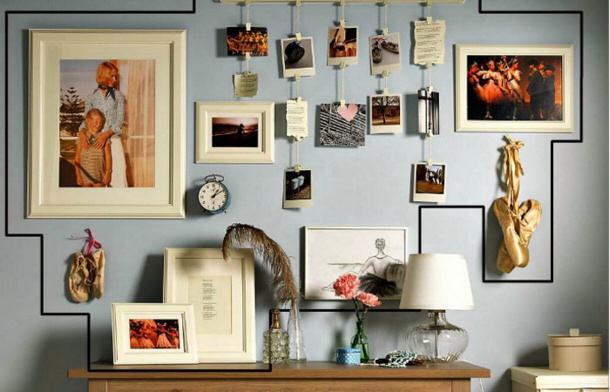 creative-gallery-wall-HGTV