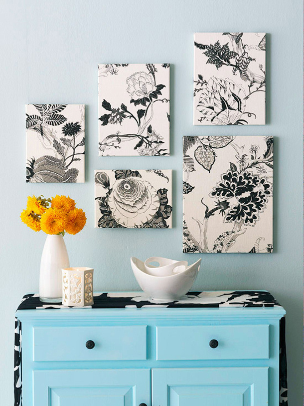 fabric wall art BHG