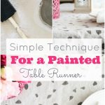 Simple Technique for a Painted Table Runner