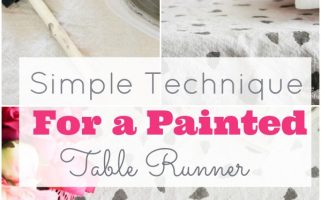 Geometic Table Runner Using Chalk Paint DIY Tutorial | landeelu.com   A great way to customize any table runner!