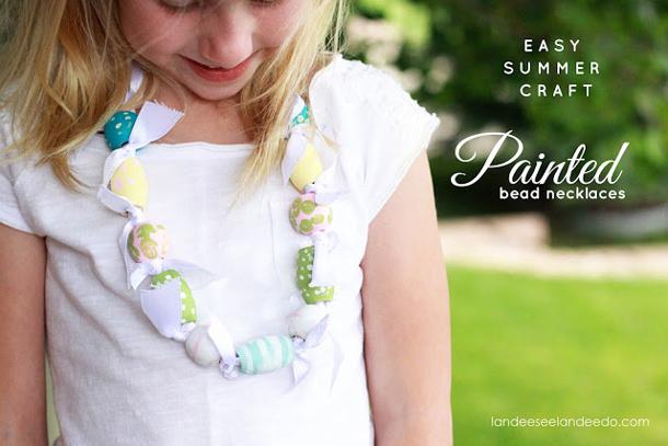 Kids Craft Necklace: Perfect Summer Craft! | landeelu.com