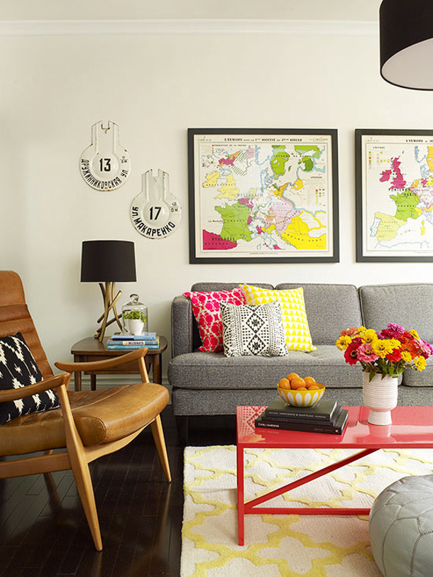 souveniers and framed maps by BHG