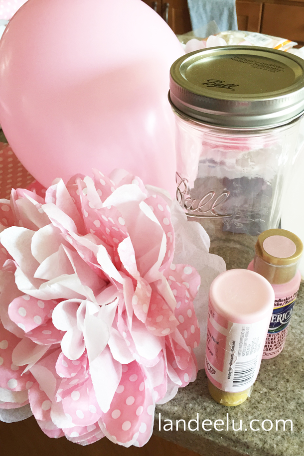 Pink And Grey Baby Shower Decor And Ideas | Landeelu.com Easy And  Inexpensive Decor