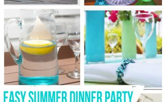 Easy Summer Dinner Party Crafts and Decor  |  landeelu.com