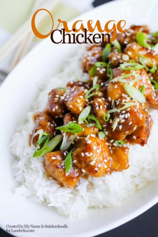Take Out Orange Chicken from Home! | landeelu.com  Make your own favorite chinese dish in your own kitchen using this amazing orange chicken recipe!