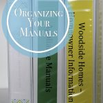 Organizing Household and Appliance Manuals