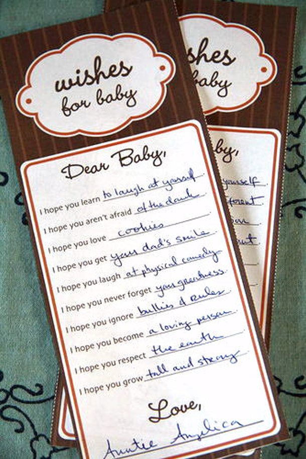 wishes for baby in brown via popsugar