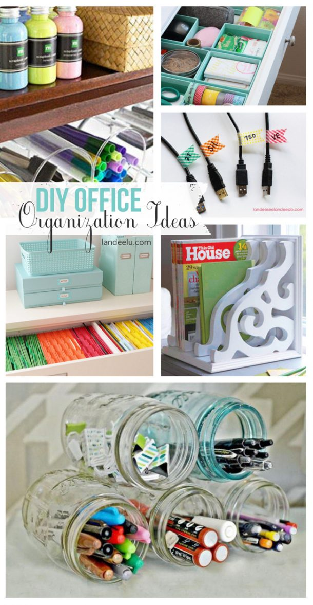 Diy Office Organization Ideas Landeelu Com