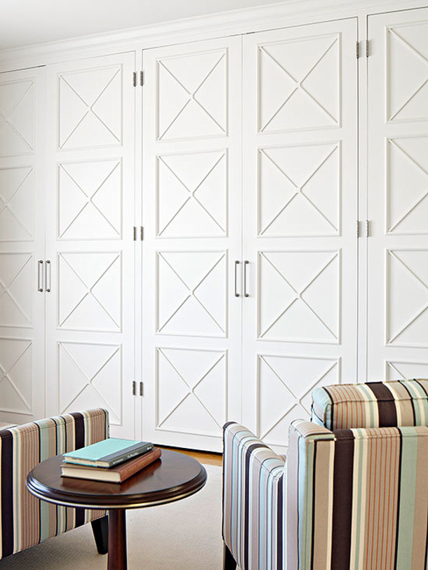 add molding to flat panel doors via bhg