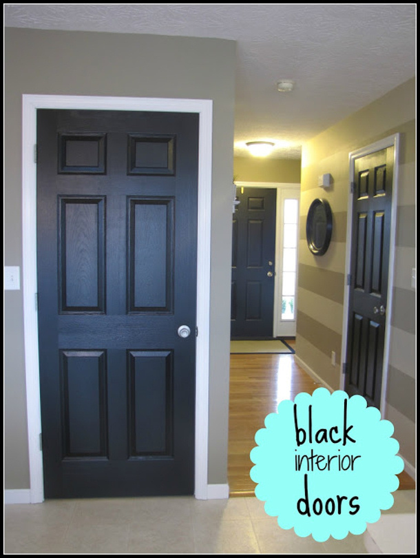painting your interior doors black instantly makes your space look. Black Bedroom Furniture Sets. Home Design Ideas