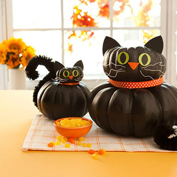 no carve pumpkin decorating ideas. Black Bedroom Furniture Sets. Home Design Ideas