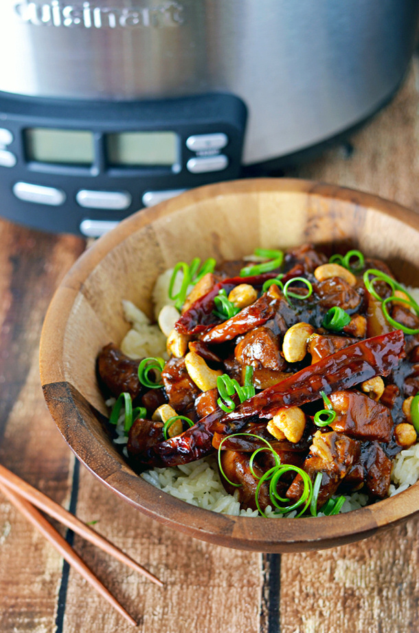Crock Pot Kung Pao Chicken via HOST THE TOAST