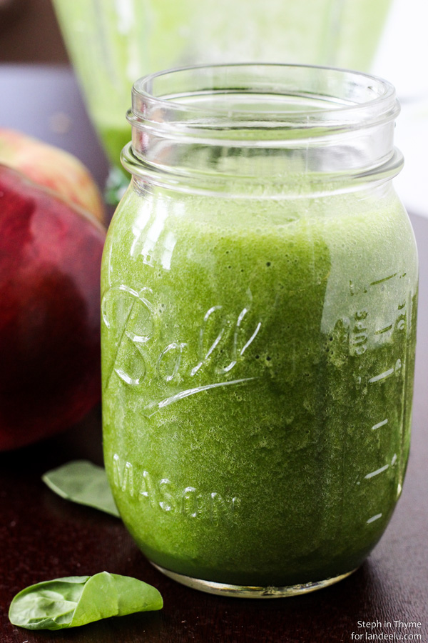 "with healthy greens, fresh apple, and apple cider for a ""green apple ..."