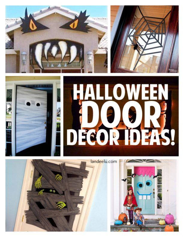 Decorating Ideas > Halloween Door Decor Ideas  Landeelucom ~ 171003_Garage Door Halloween Decorating Ideas