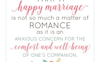 Happy Marriage Quote (free printable) | landeelu.com