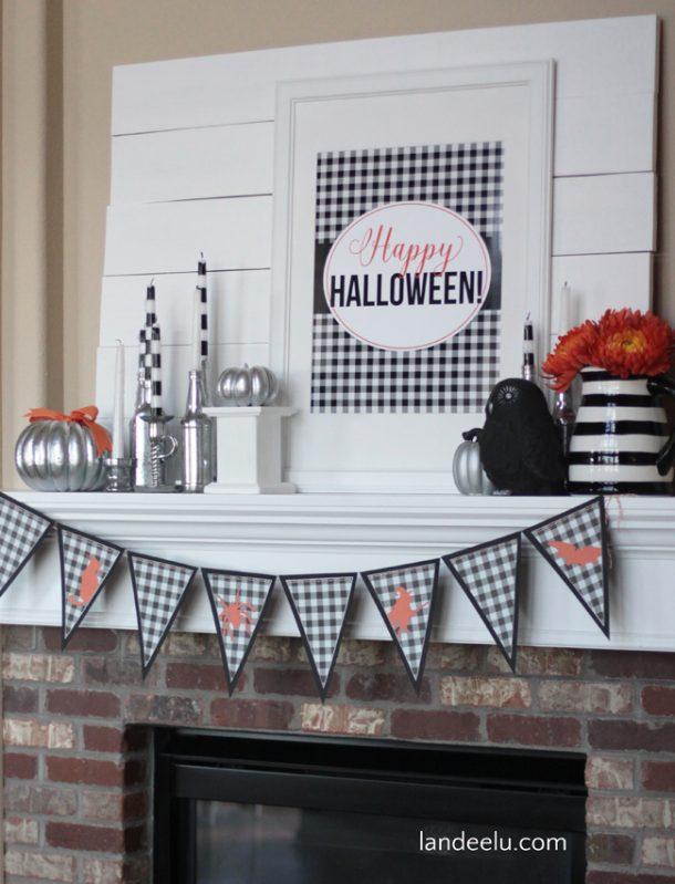 Happy Halloween! Buffalo Check Halloween Free Printable | Landeelu