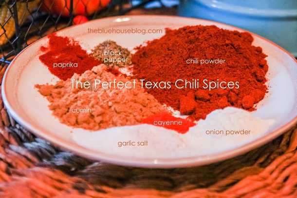 The Best Dern Tootin Texas Style Chili aka Slap Yer Mama Texas Chii Recipe via The Blue House Blog