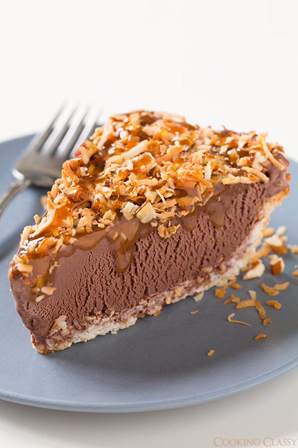 German Chocolate Ice Cream Pie Recipe | Cooking Classy