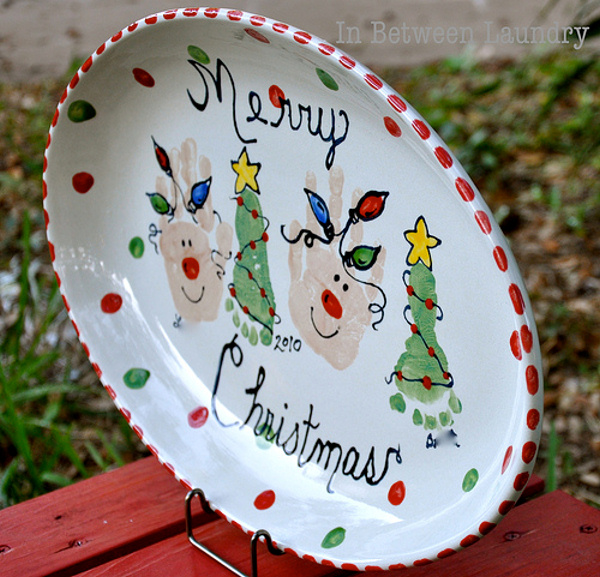 diy christmas ornaments using kids hands and feet