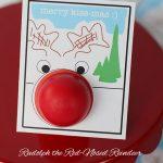 """Merry Kiss-mas"" Rudolph EOS Printable Card"