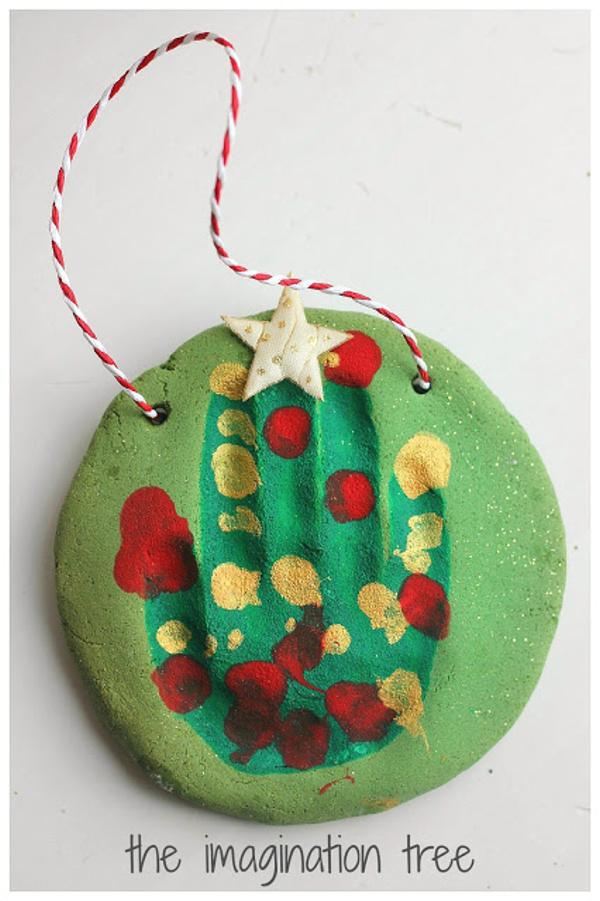 Salt Dough Handprint Christmas Tree the imagination tree
