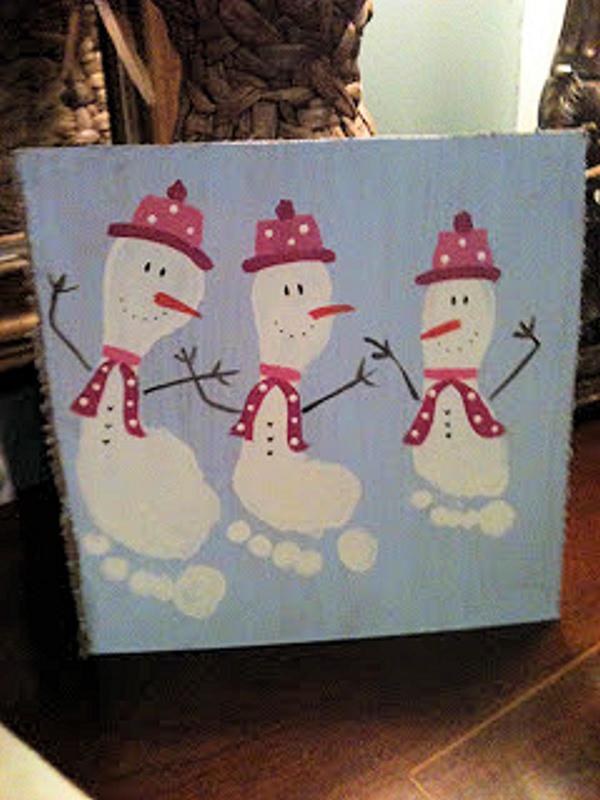 Snoman feet painting me happy