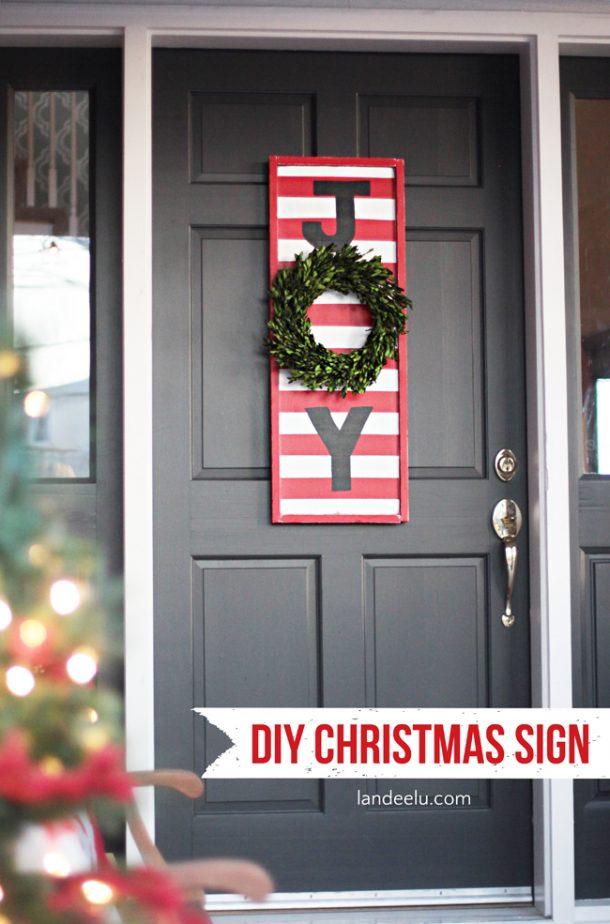 joy diy christmas sign. Black Bedroom Furniture Sets. Home Design Ideas